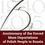 Poster in memoriam 75th anniversary forced diasporas from Poland